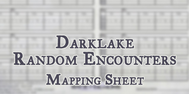 Mapping Sheet – Darklake Random Encounters (OotA)