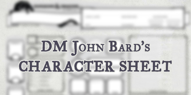 5e Character Sheet – by DM John Bard (Update 2018)